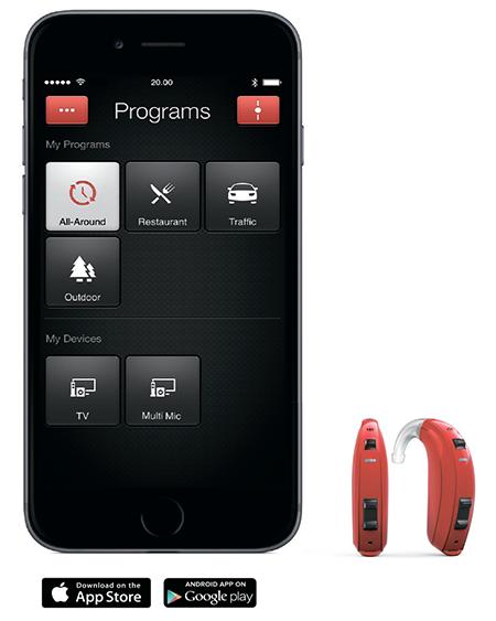 управление слуховым аппаратом с iPhone