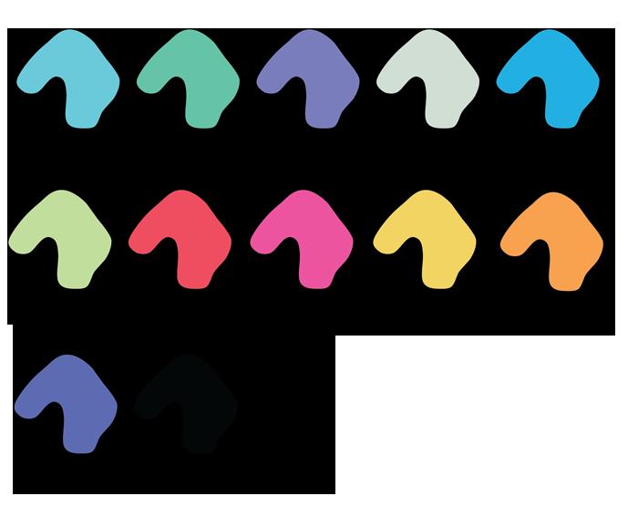 Цветовая гамма берушей металлик