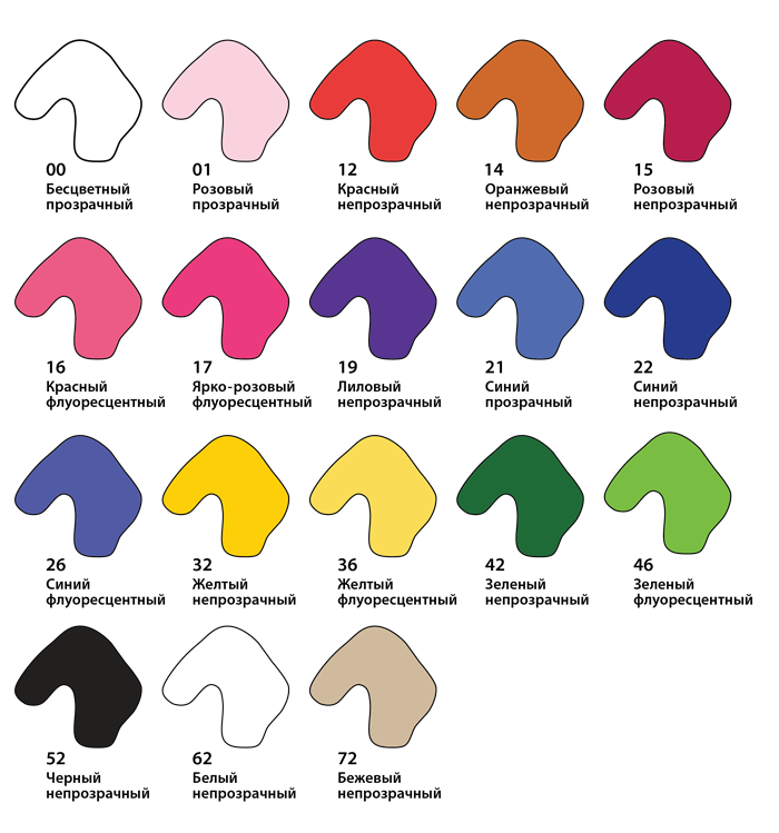 Цветовая гамма шумоизоляционных берушей